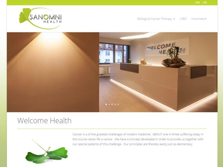 Webdesign: Sanomni Health