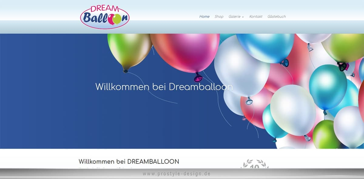 Webdesign: Dreamballoon